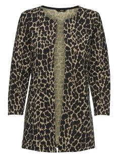 onlleco aop 7/8 long cardigan jrs 15184145 only vest black/big leo