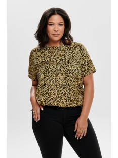 cargrapy ss top 15174493 only carmakoma t-shirt black/solar power aop