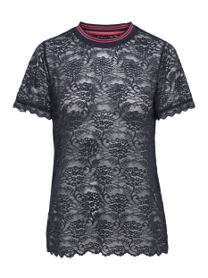 Only T-shirt onlGWEN S/S LACE TOP JRS 15173156 Night Sky/ RIB NIGHT