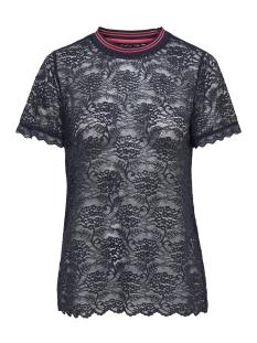 Only T-shirt onlGWEN S/S LACE TOP JRS 15173156 Night Sky/ RIB NIGHT