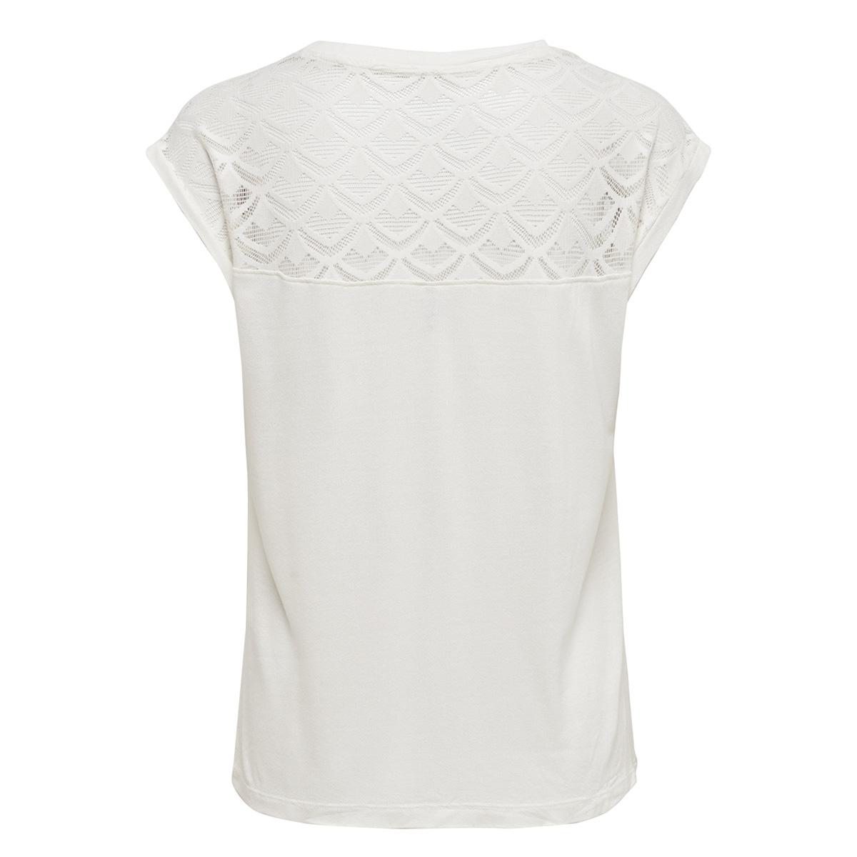 onlnicole s/s mix top noos 15151008 only t-shirt cloud dancer