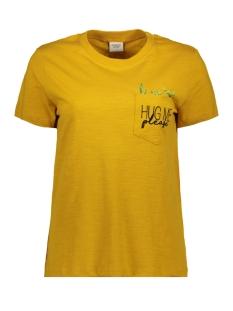 jdykid s/s pocket emb top jrs 15174101 jacqueline de yong t-shirt tawny olive/hug me cactus