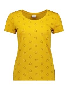jdywayne s/s aop top jrs 15174164 jacqueline de yong t-shirt tawny olive/black sher