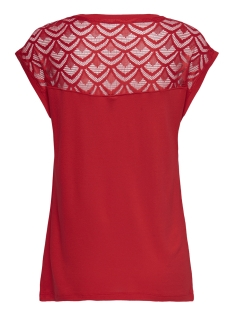 onlnicole s/s mix top noos 15151008 only t-shirt high risk red