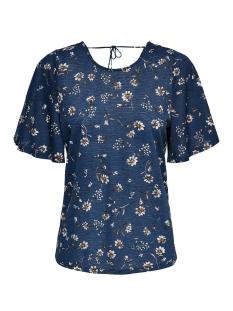 Only T-shirt ONLPELLA S/S TOP JRS 15176485 Insignia Blue/FLOWER FIE
