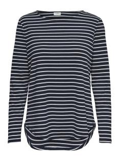 Jacqueline de Yong T-shirt JDYNOLA L/S  STRIPED  TOP JRS 15170915 Sky Captain/CLOUD DANCER