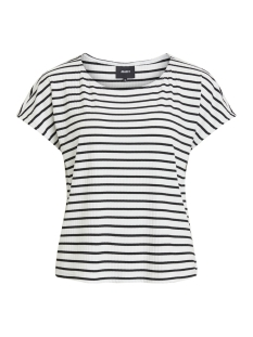 Object T-shirt OBJELISA S/S TOP PB5 23028565 Black/WHITE AS S