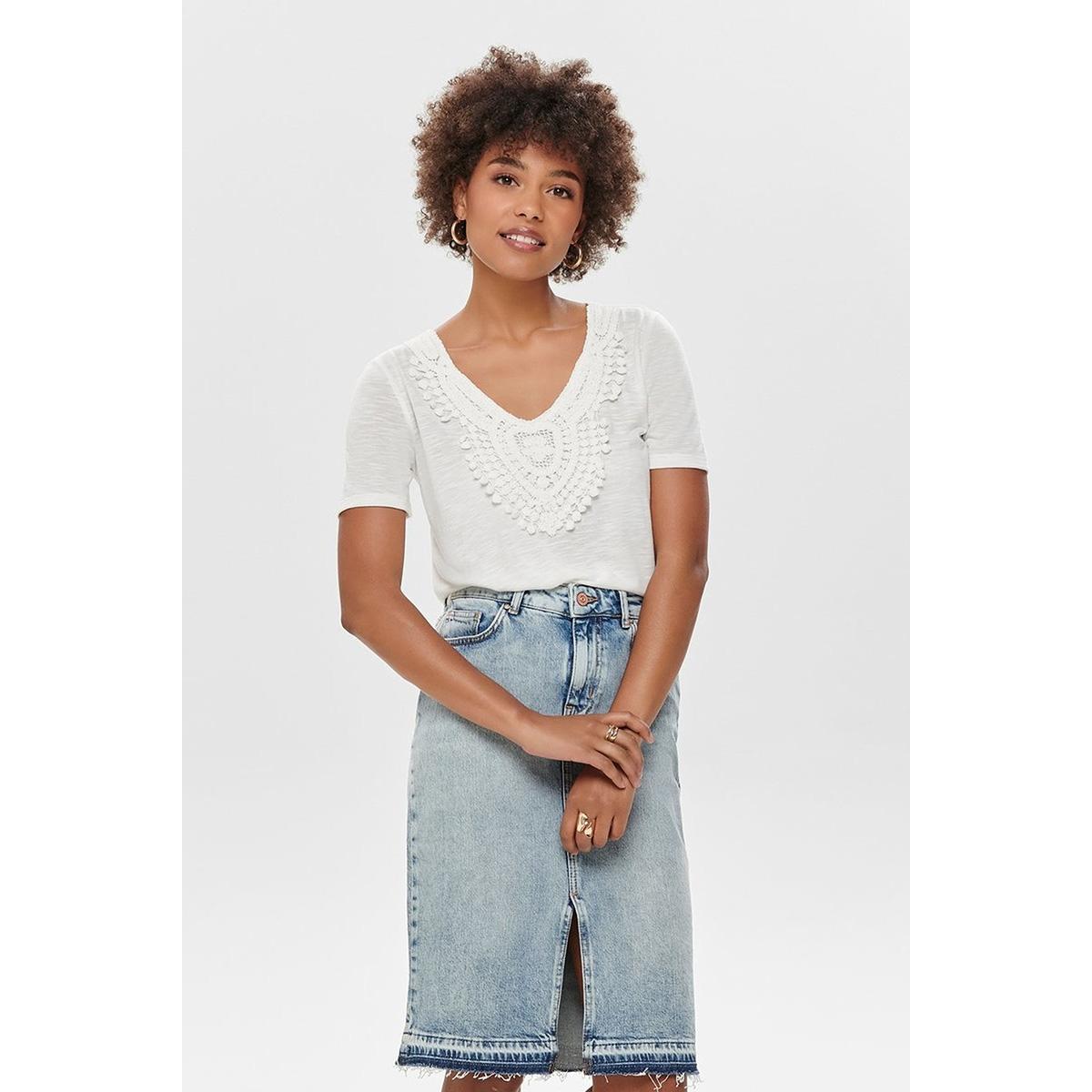 jdydodo s/s top jrs 15154568 jacqueline de yong t-shirt cloud dancer/dtm croche