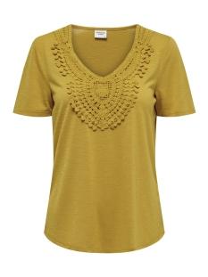 Jacqueline de Yong T-shirt JDYDODO S/S TOP JRS 15154568 Tawny Olive/DTM CROCHE