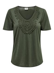 Jacqueline de Yong T-shirt JDYDODO S/S TOP JRS 15154568 Thyme/DTM CROCHE