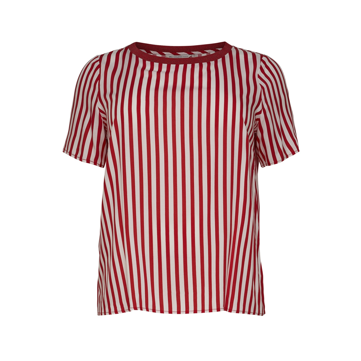 carluna ss top 15175484 only carmakoma t-shirt high risk red/high risk