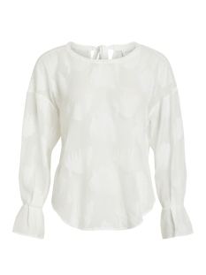 Vila T-shirt VIBADIDA L/S TOP 14051581 Cloud Dancer