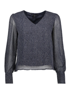 Vero Moda Blouse VMDOTTY LS TOP WVN 10211816 Night Sky/SNOW WHITE
