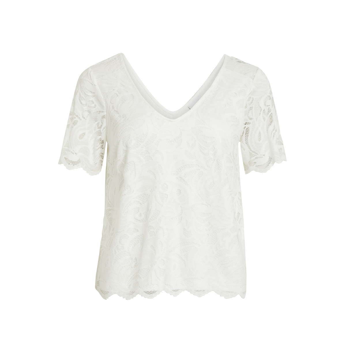 vidaimy s/s t-shirt tb 14051848 vila t-shirt cloud dancer