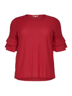 Only Carmakoma T-shirt CARDIDDE 2/4 TOP 15176966 High Risk Red