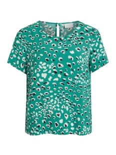 Vila T-shirt VIATTA PARDAS S/S TOP 14051525 Pepper Green/PARDAS 1ST