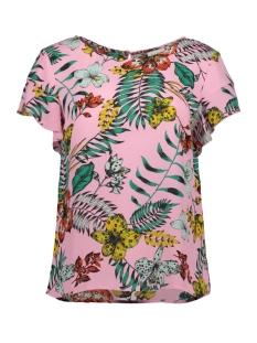 Vila T-shirt VILUCY S/S FLOUNCE TOP - FAV LUX 14049944 Begonia Pink/MONARIA