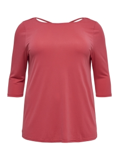 Only Carmakoma T-shirt CARMARIE 3/4 CROSS TOP 15175414 Geranium