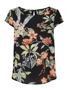 Only T-shirt ONLNOVA LUX S/S AOP TOP 4 WVN1 15179446 Black/TROPICAL FLOWERS