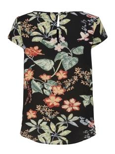 onlnova lux s/s aop top 4 wvn1 15179446 only t-shirt black/tropical flowers