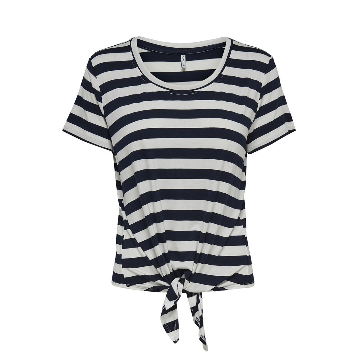 onlarli s/s knot top jrs noos 15178088 only t-shirt cloud dancer/night sky