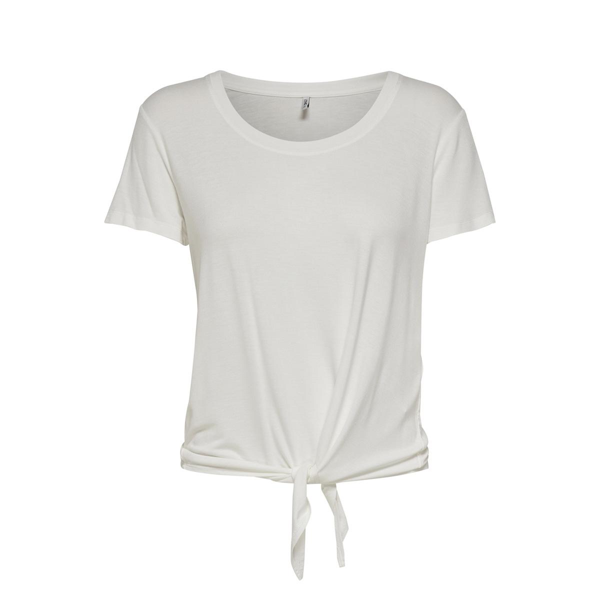 onlarli s/s knot top jrs noos 15178088 only t-shirt cloud dancer