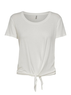Only T-shirt ONLARLI S/S KNOT TOP JRS NOOS 15178088 Cloud Dancer
