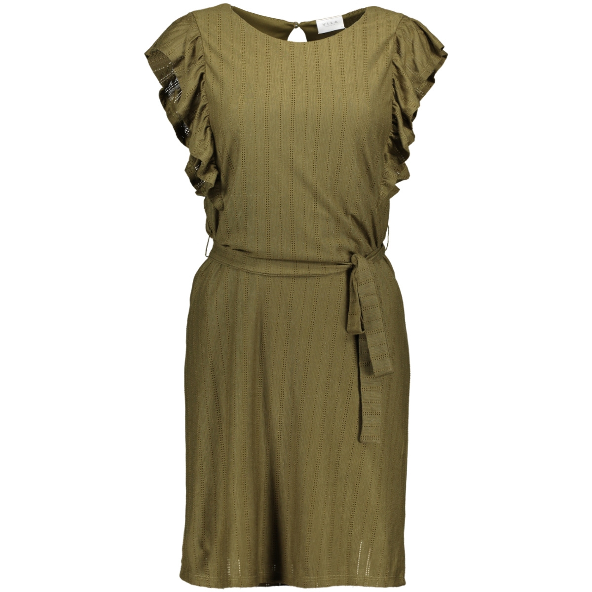 vilvera s/l dress 14052175 vila jurk dark olive