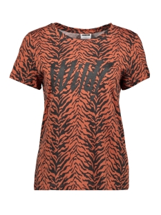 Noisy may T-shirt NMWILD S/S TOP X4 27007879 Black/TIGER PRINT