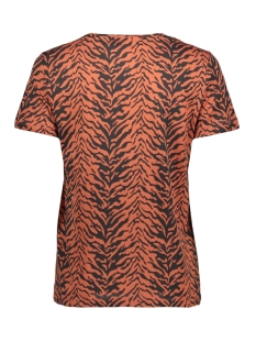 nmwild s/s top x4 27007879 noisy may t-shirt black/tiger print