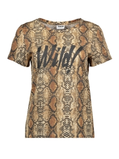 Noisy may T-shirt NMWILD S/S TOP X4 27007879 Black/SNAKE PRINT