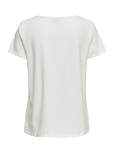 jdybillie treats s/s  print top jrs 15174396 jacqueline de yong t-shirt cloud dancer/bonjour
