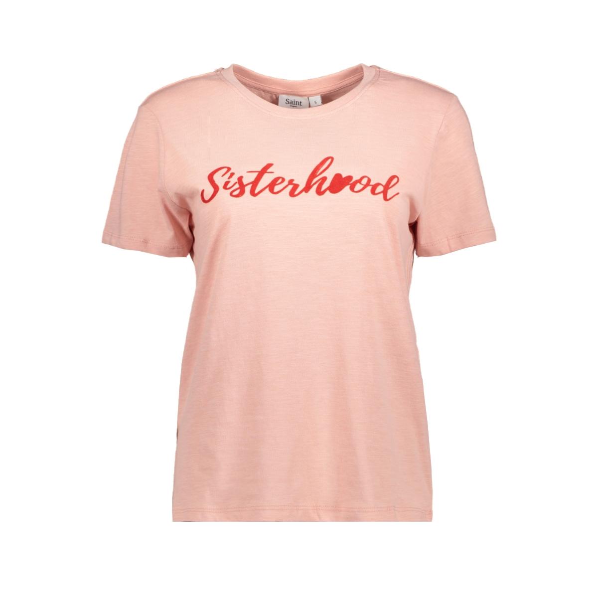 t shirt w flock print t1547 saint tropez t-shirt 3282
