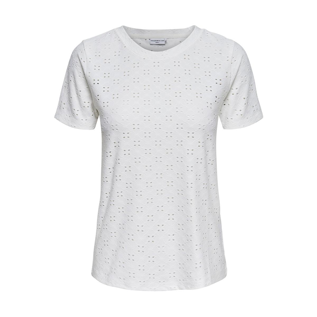 jdycathinka s/s tag top jrs 15158450 jacqueline de yong t-shirt cloud dancer