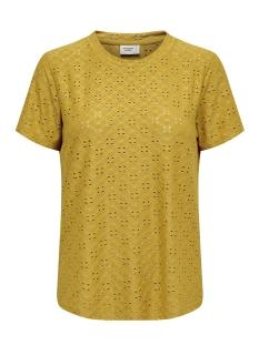 Jacqueline de Yong T-shirt JDYCATHINKA S/S TAG TOP JRS 15158450 Tawny Olive