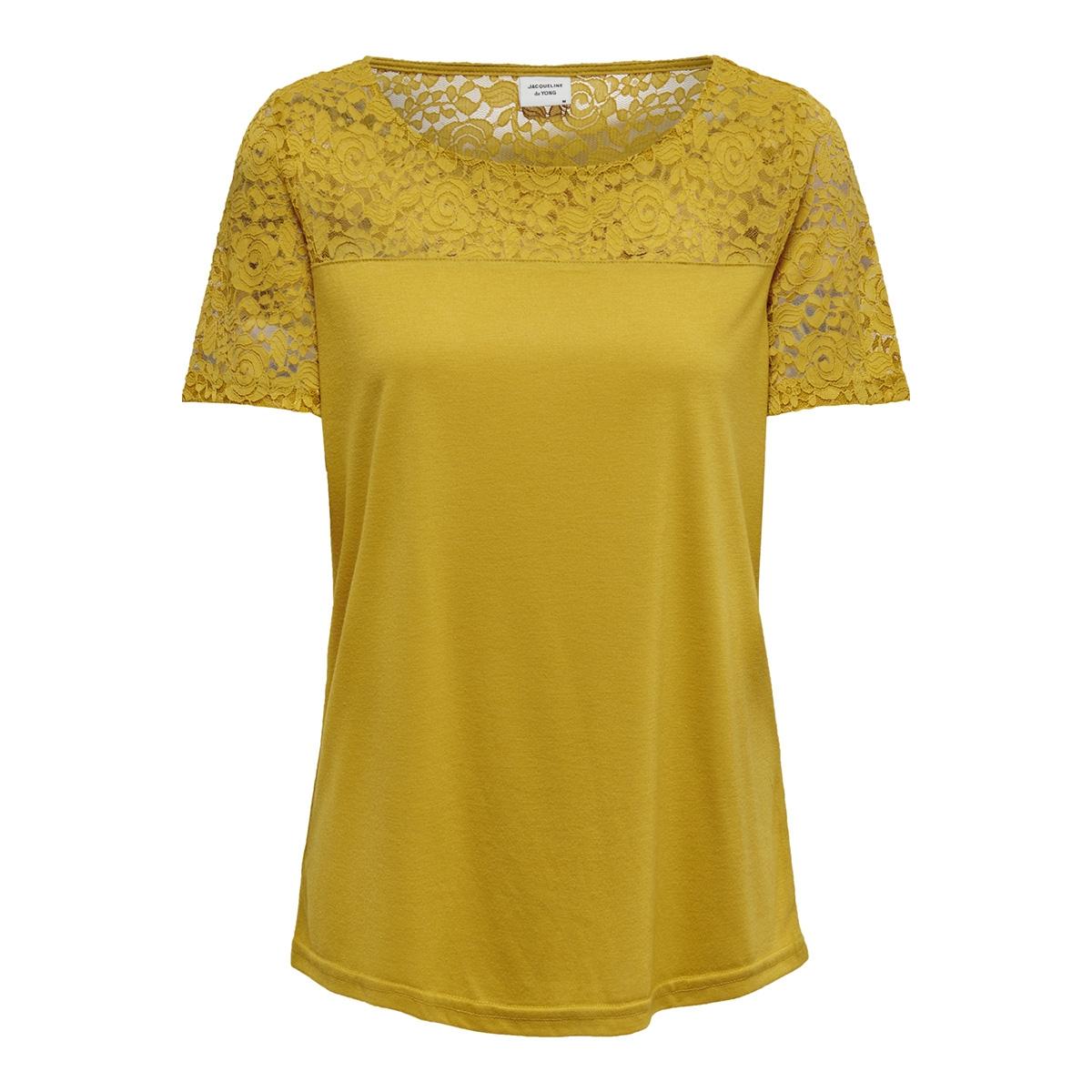 jdykimmie s/s top jrs 15161149 jacqueline de yong t-shirt tawny olive/dtm lace