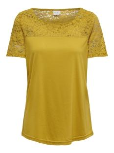 Jacqueline de Yong T-shirt JDYKIMMIE S/S TOP JRS 15161149 Tawny Olive/DTM LACE