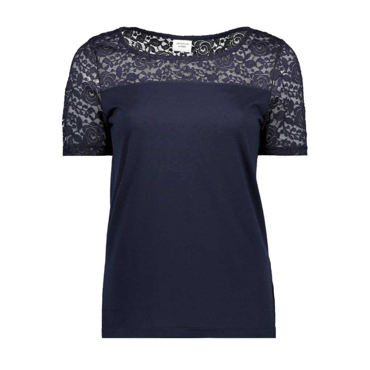 jdykimmie s/s top jrs 15161149 jacqueline de yong t-shirt sky captain/dtm lace