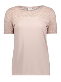 Jacqueline de Yong T-shirt JDYKIMMIE S/S TOP JRS 15161149 Shadow Gray/DTM LACE