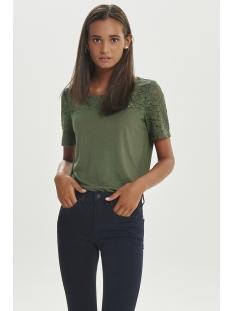 jdykimmie s/s top jrs 15161149 jacqueline de yong t-shirt thyme/dtm lace