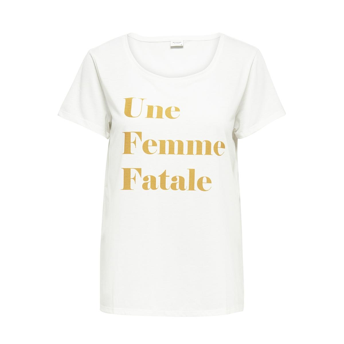 jdycity icon print s/s top jrs 15175243 jacqueline de yong t-shirt cloud dancer/femme