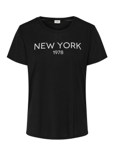 Jacqueline de Yong T-shirt JDYCITY ICON PRINT S/S TOP JRS 15175243 Black/NEW YORK 1