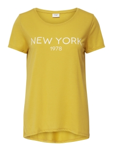 Jacqueline de Yong T-shirt JDYCITY ICON PRINT S/S TOP JRS 15175243 Spicy Mustard/NEW YORK 1