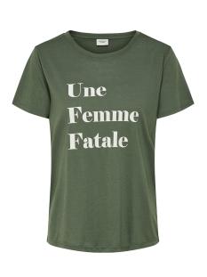 jdycity icon print s/s top jrs 15175243 jacqueline de yong t-shirt thyme/femme
