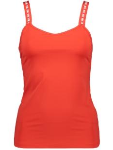 vmnaomi sl sporty tanktop lcs 10215994 vero moda top fiery red/vm letters