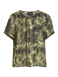 Object T-shirt OBJPALM SS TOP 102 23028815 Elfin Yellow/ELFIN YELLOW