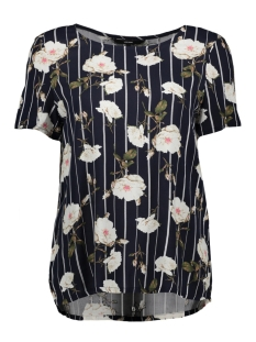 Vero Moda T-shirt VMSIMPLY EASY SS TOP 10211480 Night Sky/TUVA