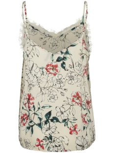 vmkiley lace singlet vip 10218203 vero moda top oatmeal/kiley
