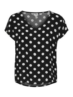 jdystar s/s v-neck top wvn fs 15171522 jacqueline de yong t-shirt black/cloud danc