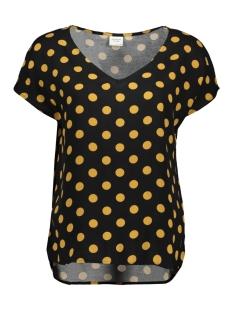 Jacqueline de Yong T-shirt JDYSTAR S/S V-NECK TOP WVN FS 15171522 Black/CHAI TEA D